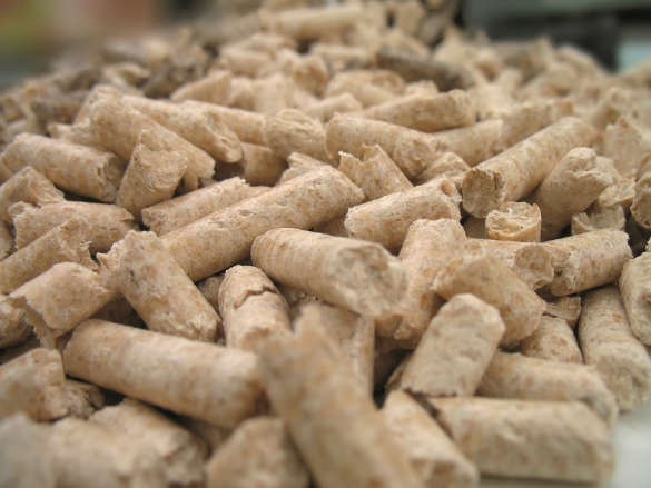 wood pellets for fireplaces and stoves (close-up)