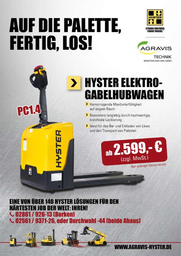 Hyster Promoaktion Münsterland-Ems