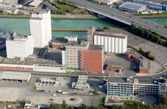 Luftaufnahme AGRAVIS-Zentrale Zentrale Muenster Futtermittelwerk Kraftfutterwerk Martin Egbert